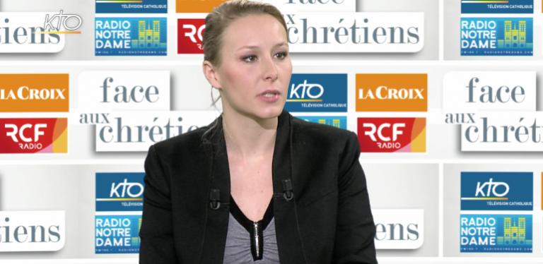 Marion Maréchal-Le Pen dénonce l'abandon du combat de l'Église contre l'IVG