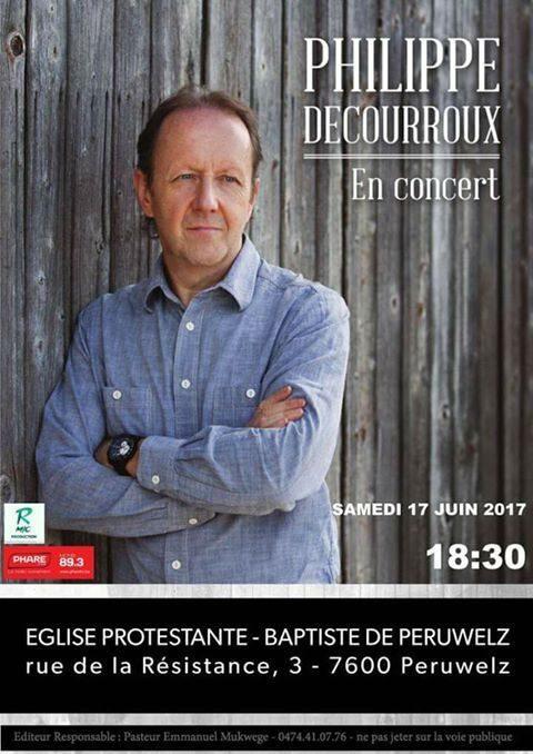 Philippe Decourroux en concert en Belgique (Peruwelz)