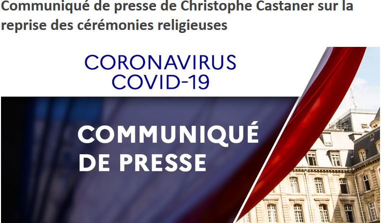 France : les cérémonies religieuses et cultuelles sont de nouveau autorisées