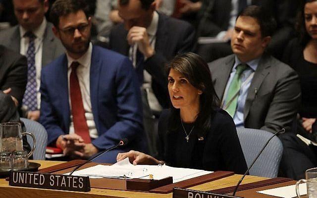 Haley appelle à soutenir le futur plan de paix américain