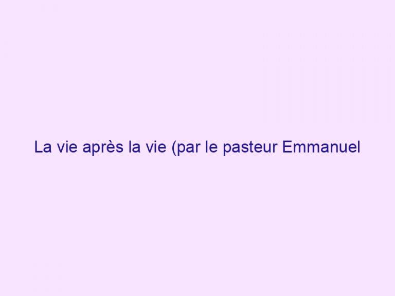 La vie après la vie (par le pasteur Emmanuel PIRAS)
